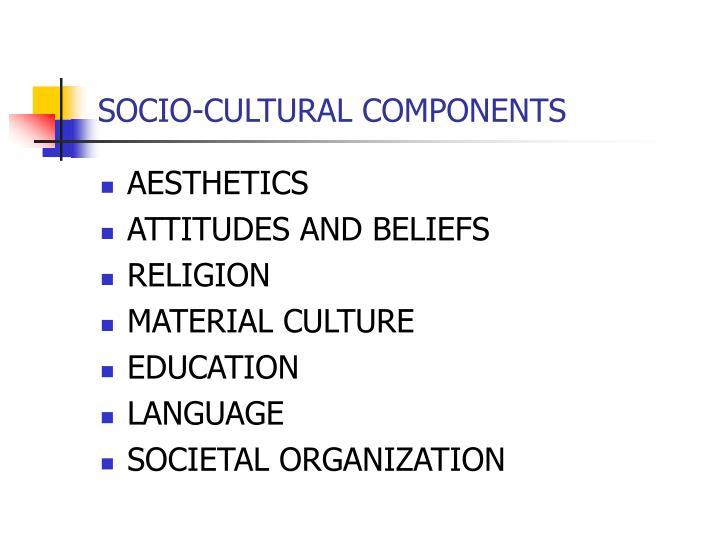 SOCIO-CULTURAL COMPONENTS
