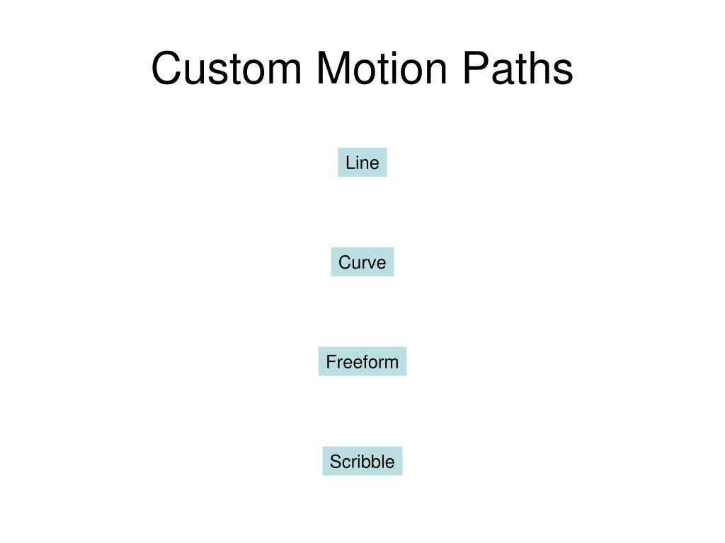 Custom Motion Paths