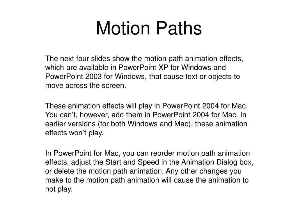 Motion Paths