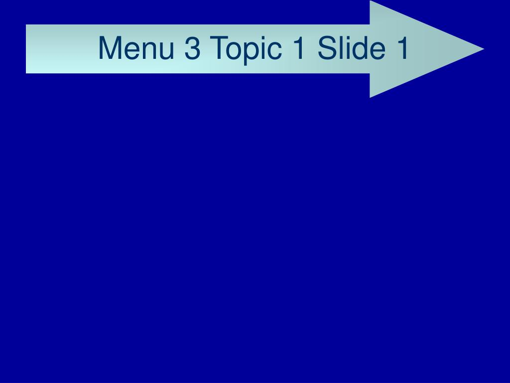 Menu 3 Topic 1 Slide 1