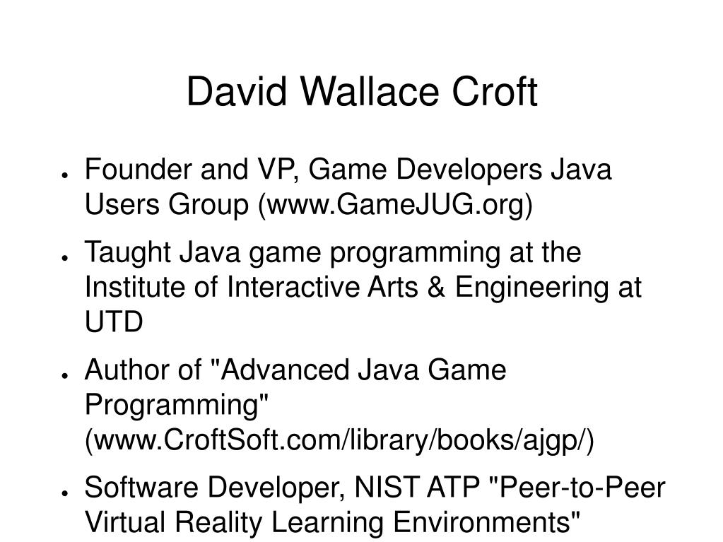 David Wallace Croft