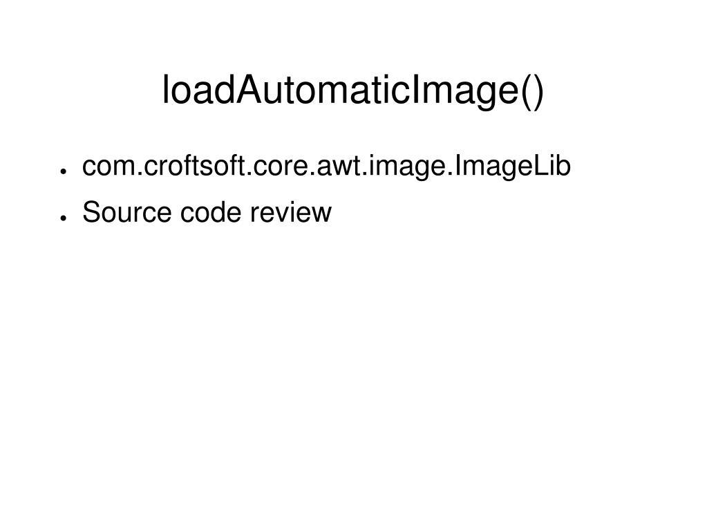 loadAutomaticImage()