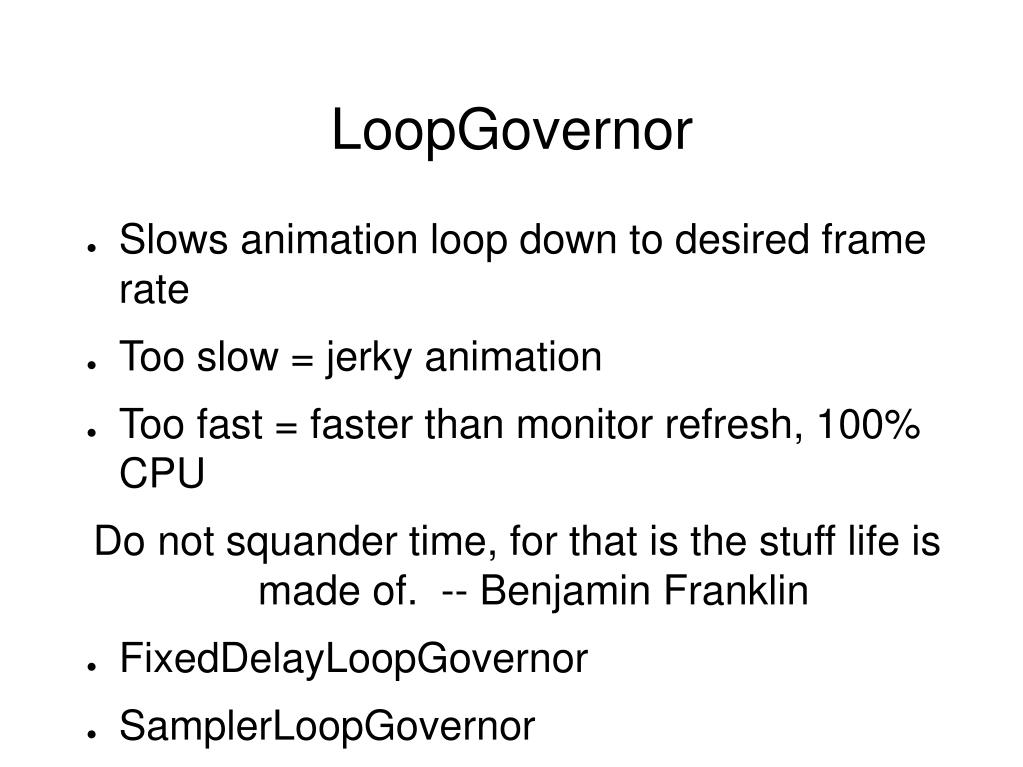 LoopGovernor