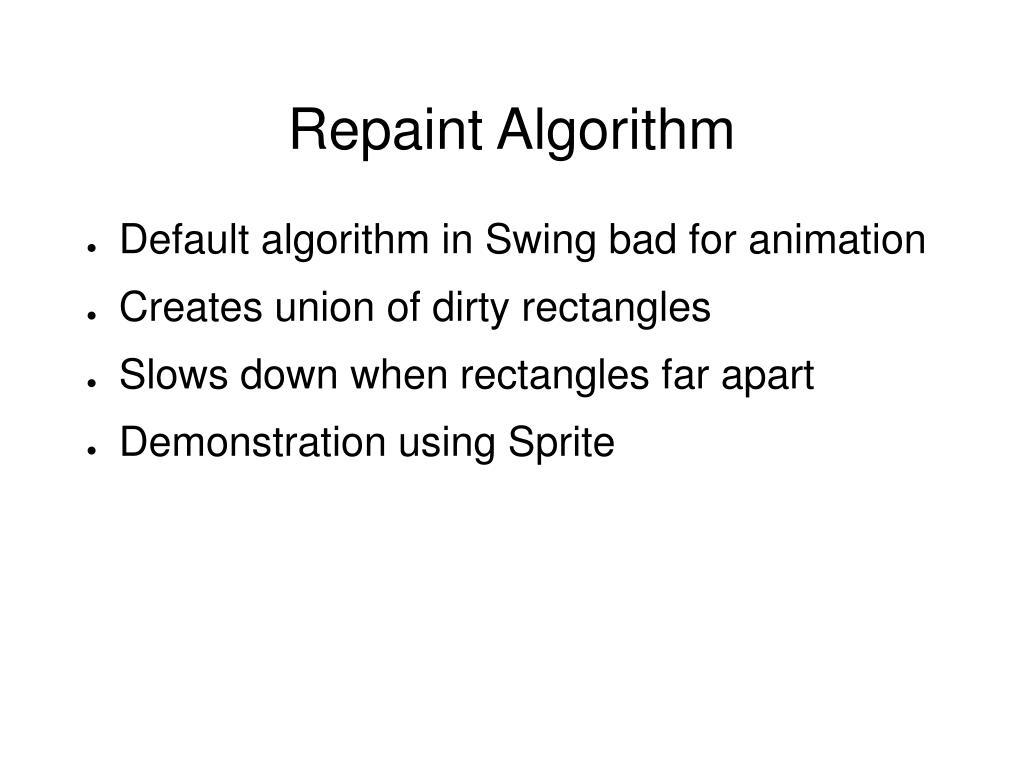 Repaint Algorithm