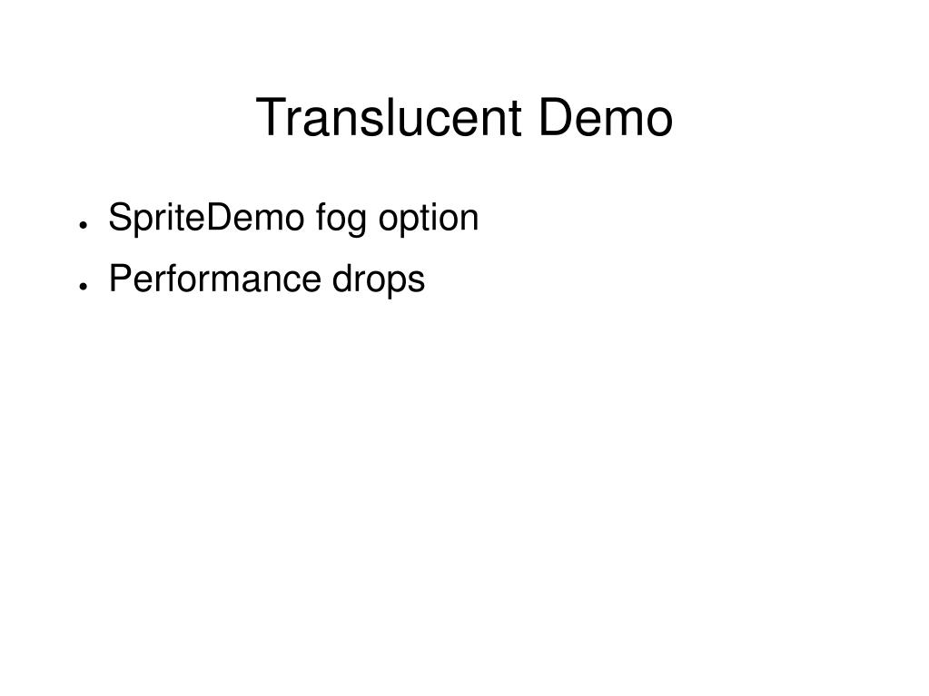 Translucent Demo