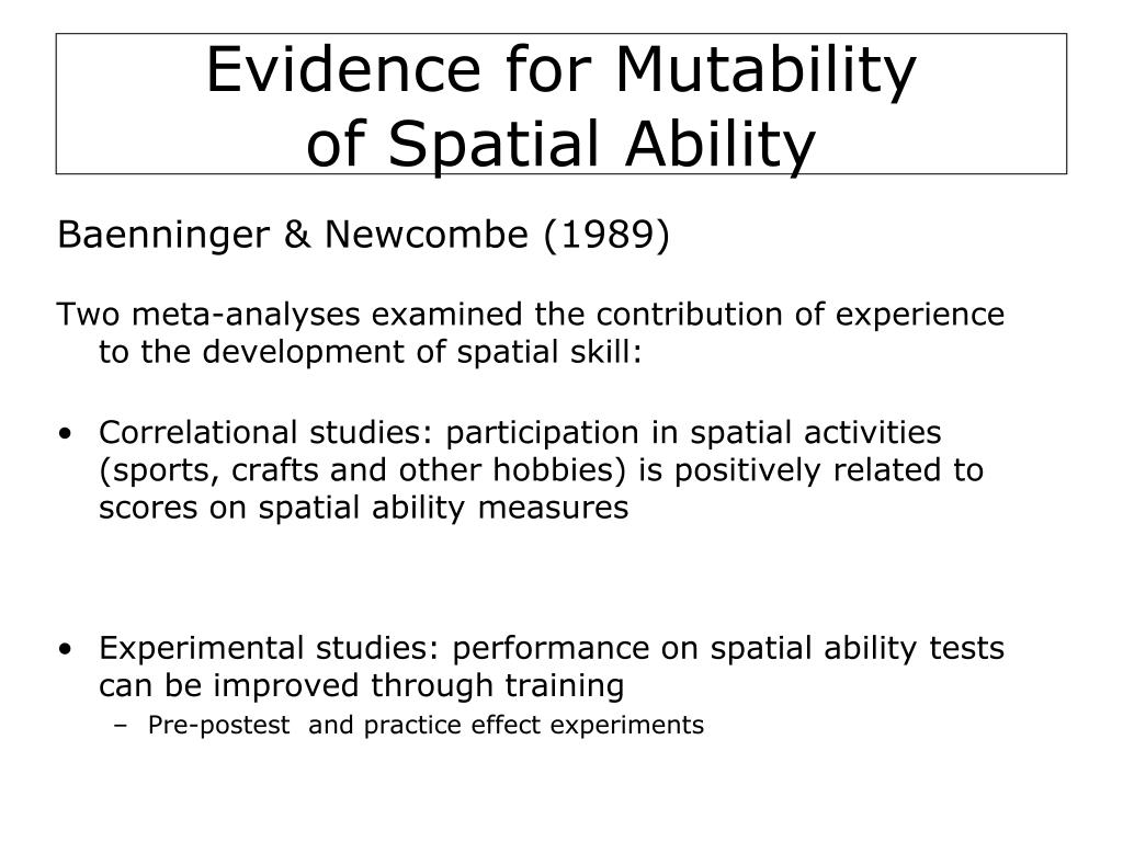 Evidence for Mutability