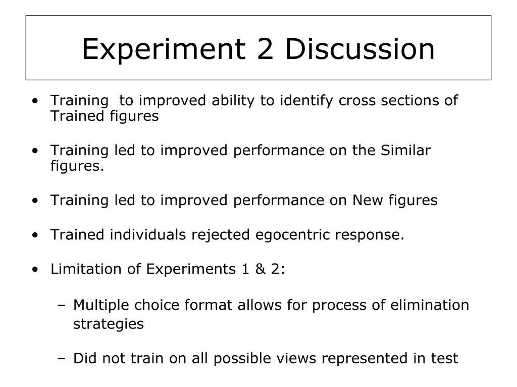 Experiment 2 Discussion