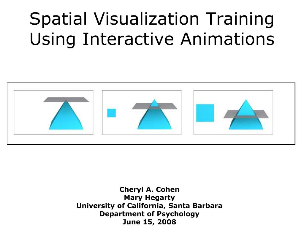 spatial visualization training using interactive animations
