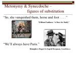 metonymy synecdoche figures of substitution