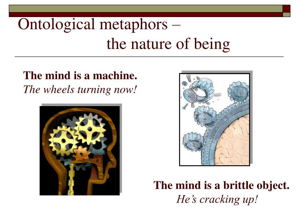 Ontological metaphors –