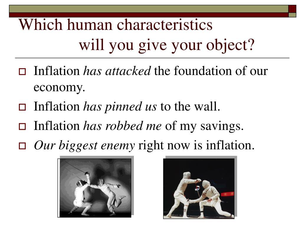 Which human characteristics