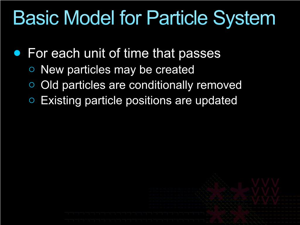 Basic Model for Particle System