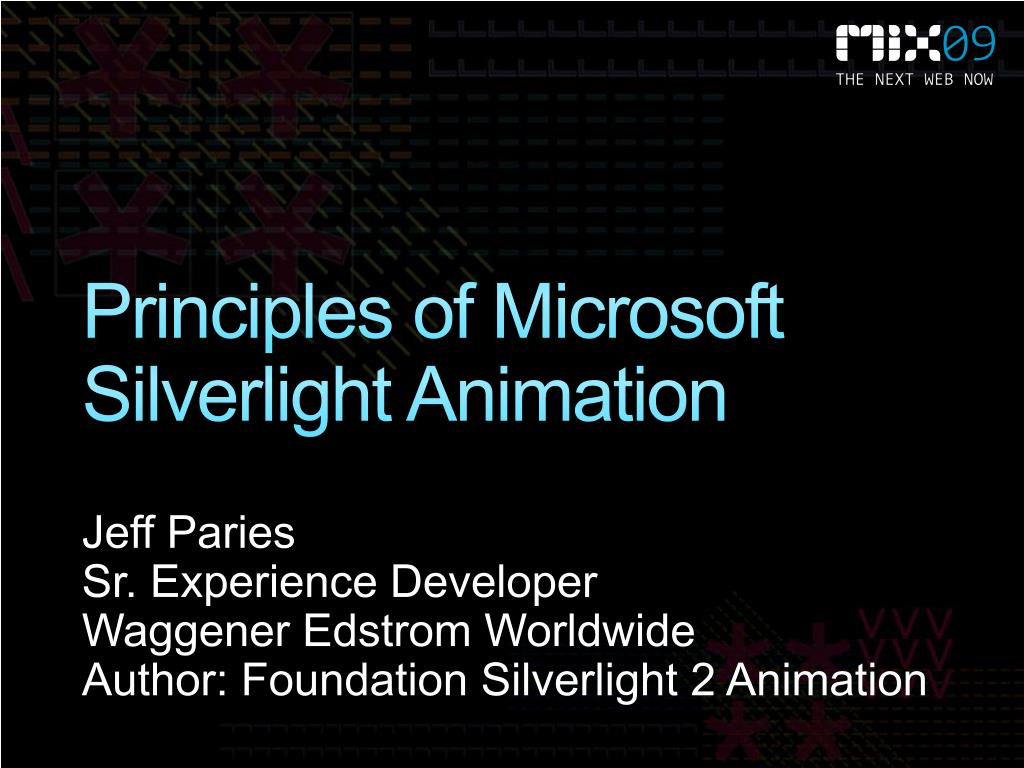 Principles of Microsoft Silverlight Animation