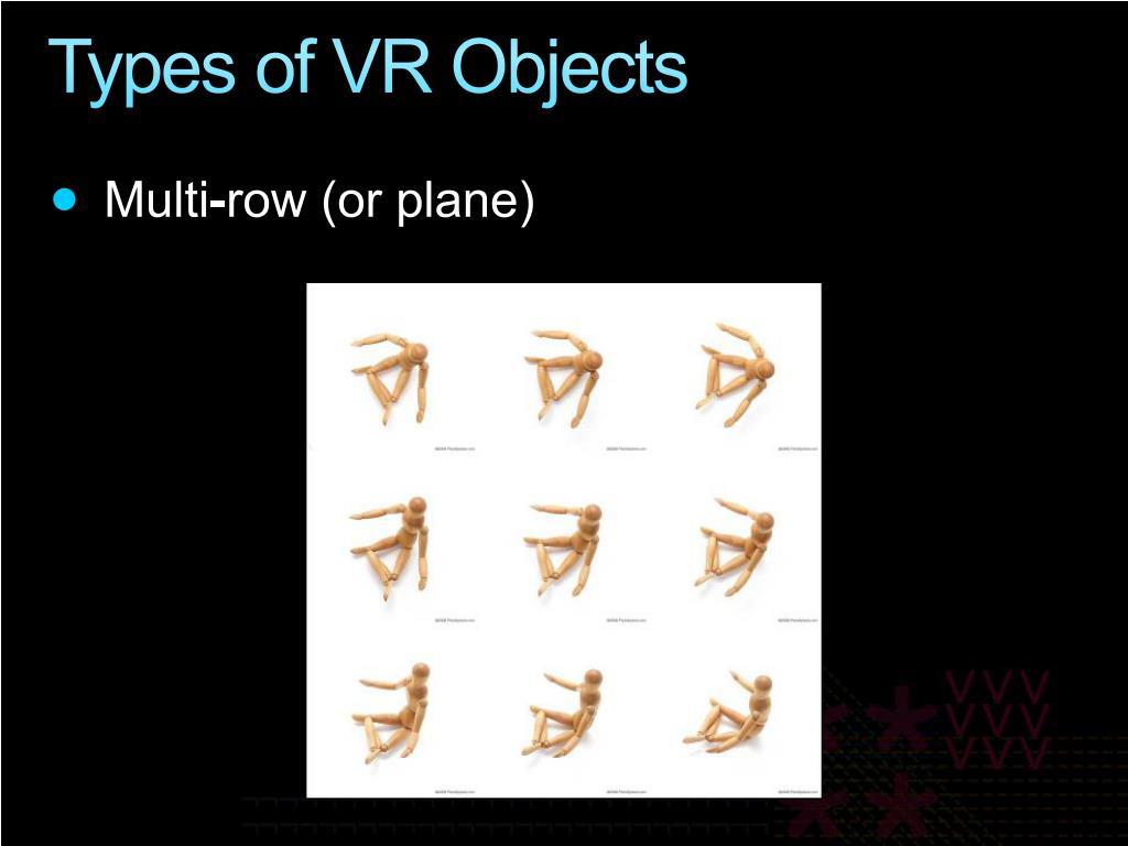 Types of VR Objects