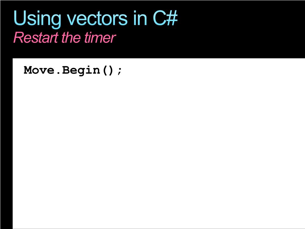 Using vectors in C#