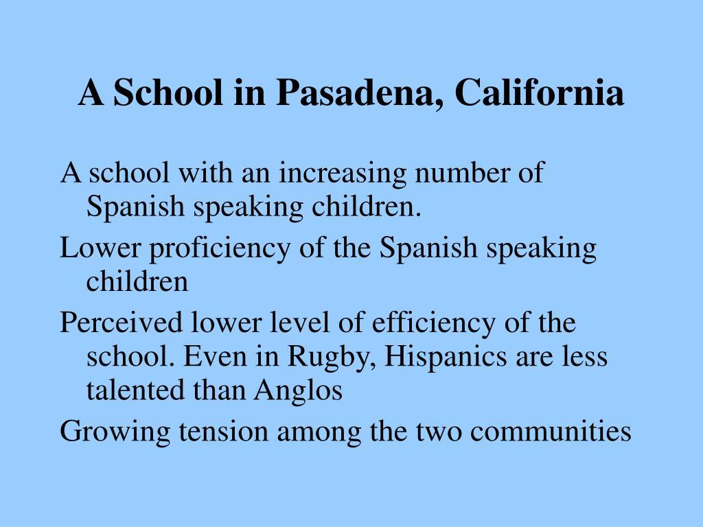 A School in Pasadena, California