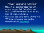 powerpoint and movies