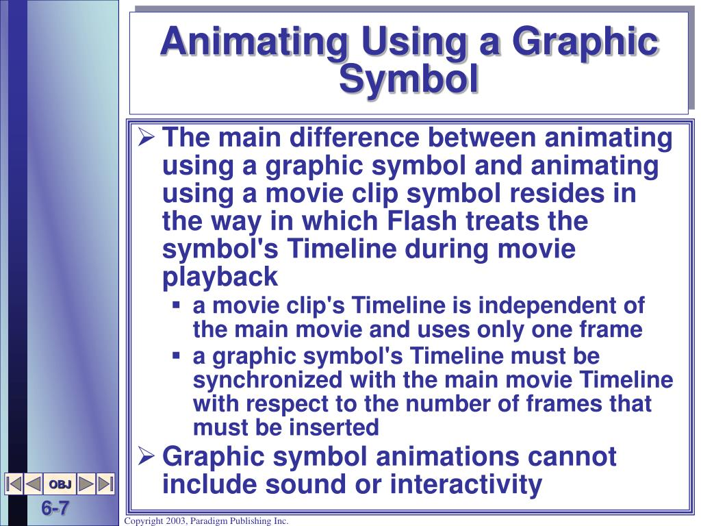 Animating Using a Graphic Symbol