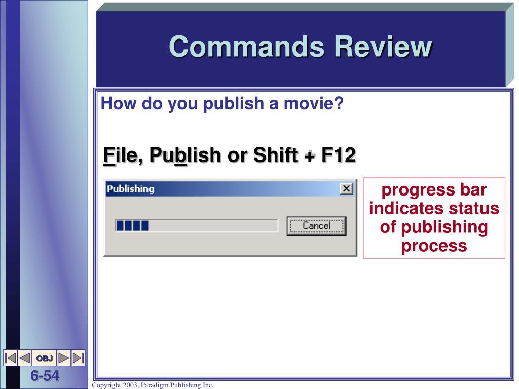 Commands Review