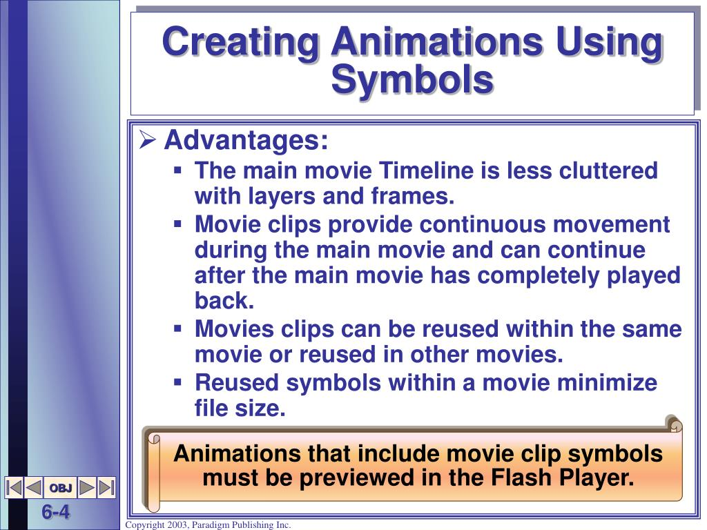 Creating Animations Using Symbols