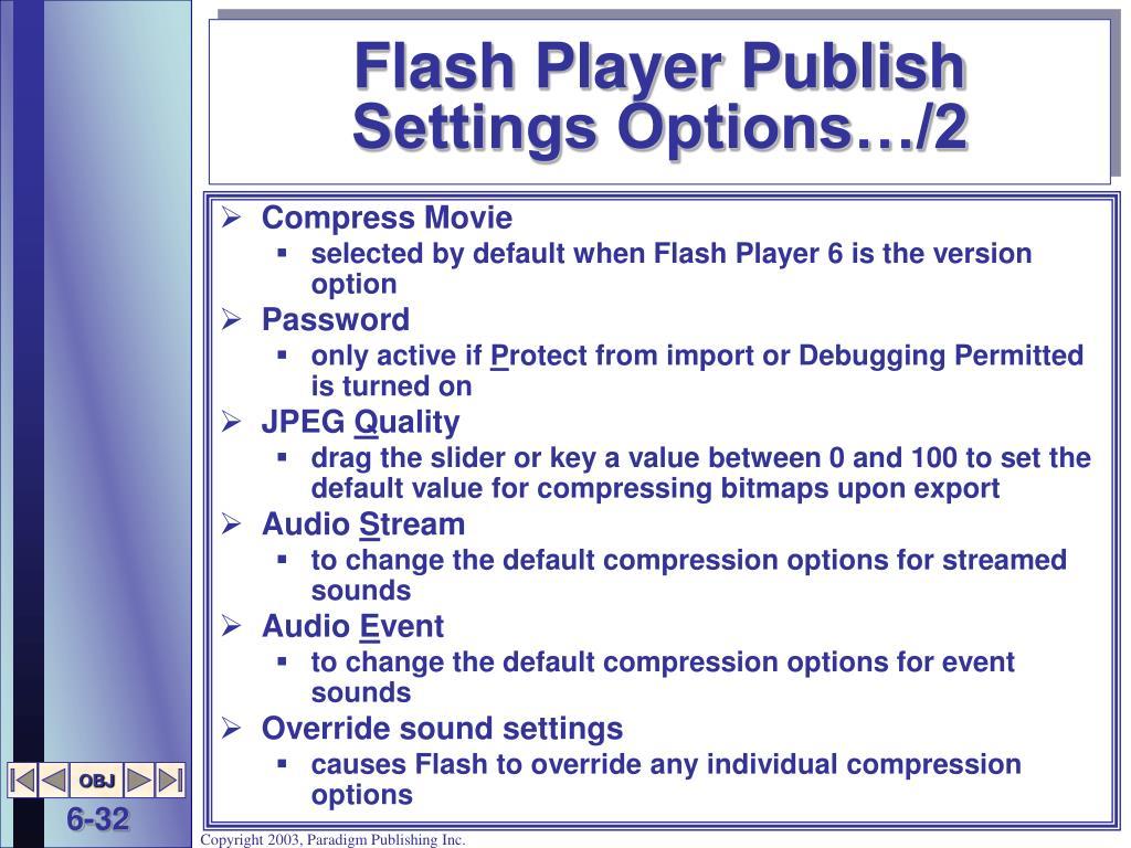 Flash Player Publish Settings Options…/2