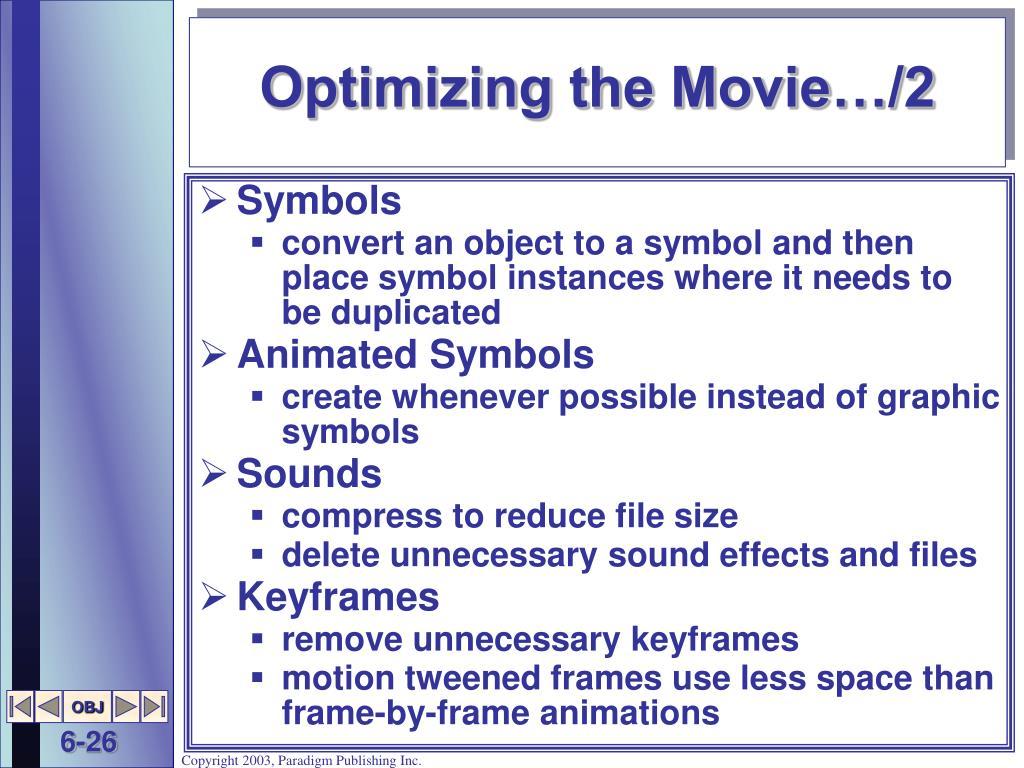 Optimizing the Movie…/2