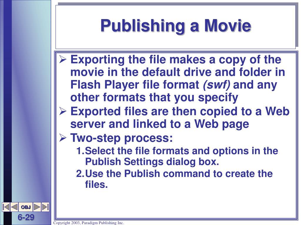 Publishing a Movie