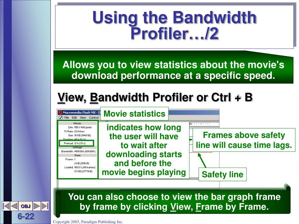 Using the Bandwidth Profiler…/2