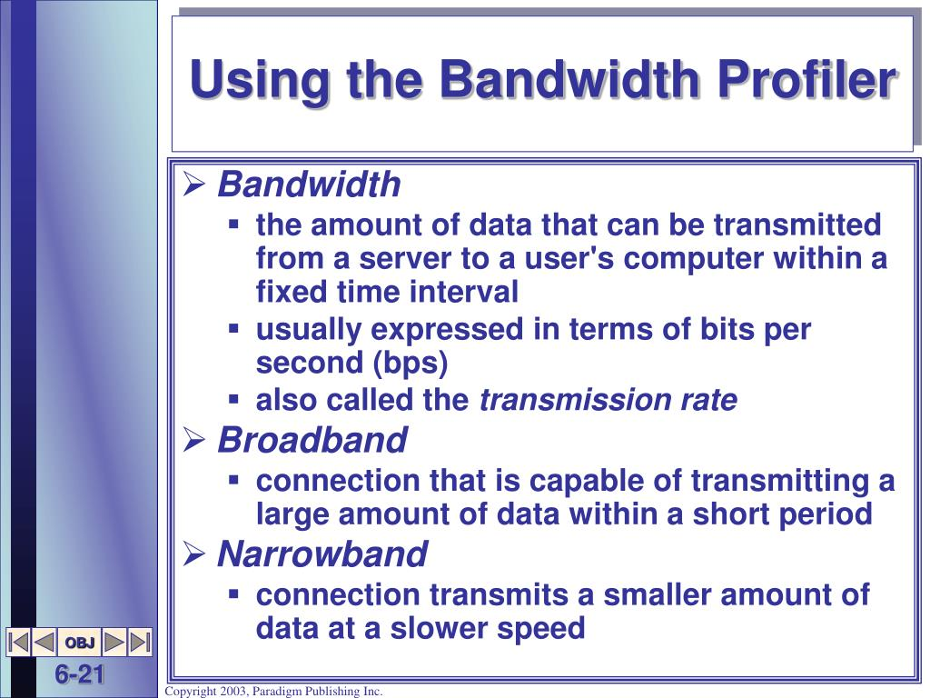 Using the Bandwidth Profiler