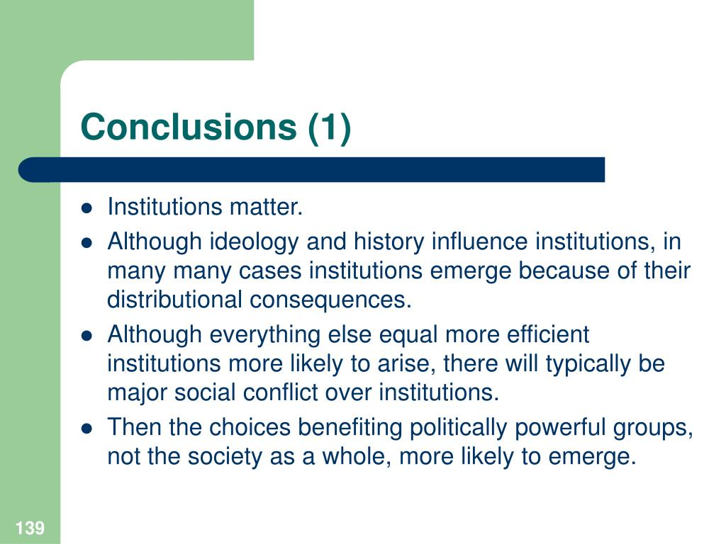 Conclusions (1)