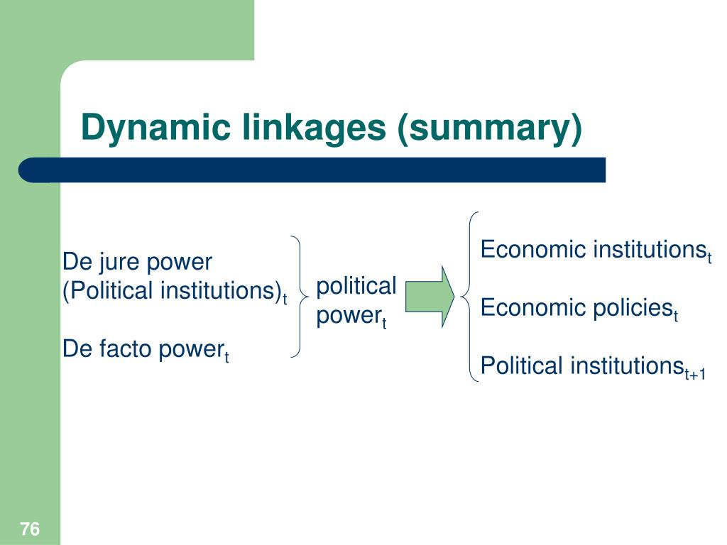 Dynamic linkages (summary)