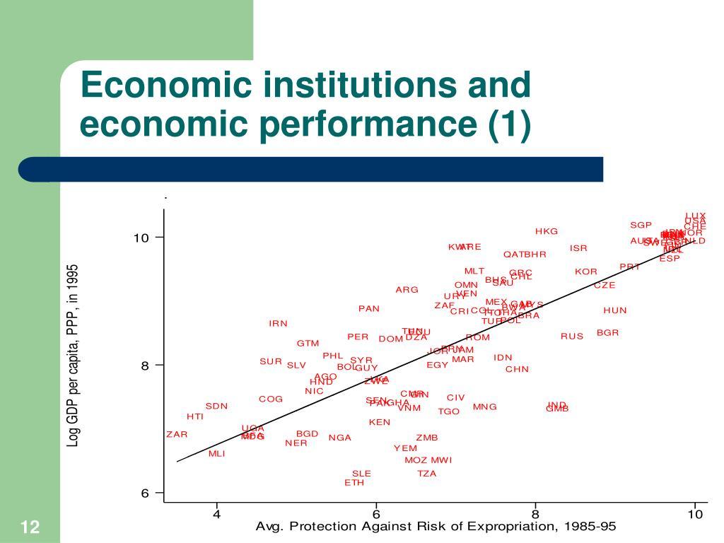 Economic institutions and economic performance (1)