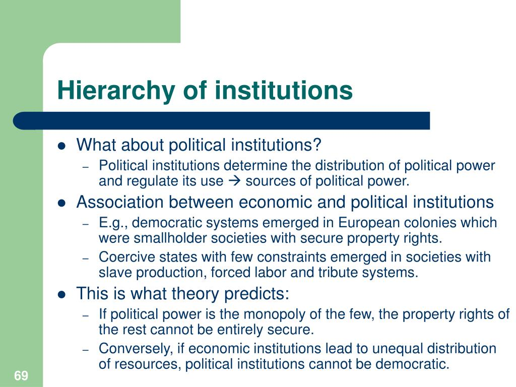 Hierarchy of institutions