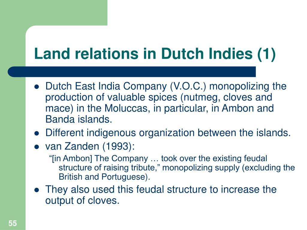 Land relations in Dutch Indies (1)