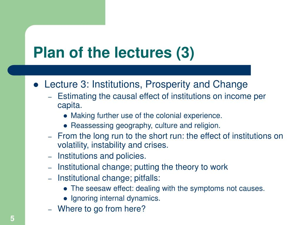 Plan of the lectures (3)