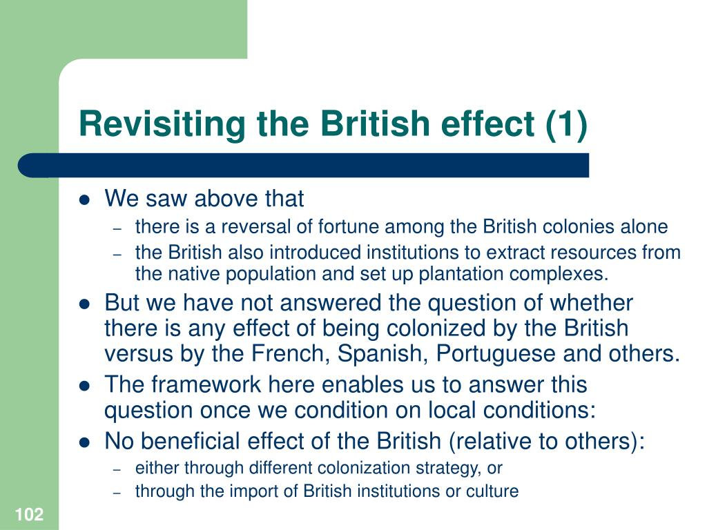 Revisiting the British effect (1)