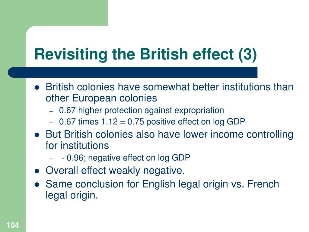 Revisiting the British effect (3)