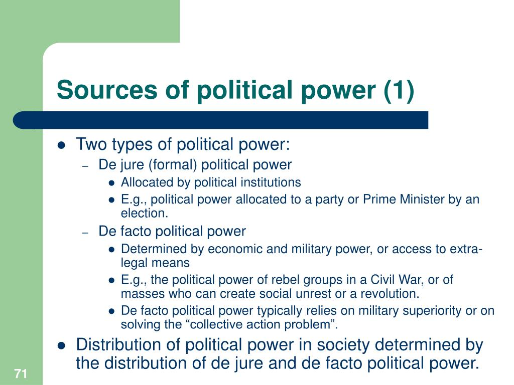 Sources of political power (1)
