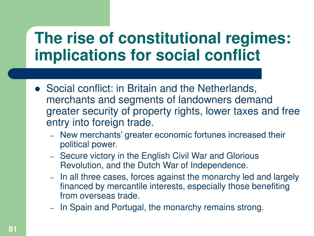 The rise of constitutional regimes: implications for social conflict