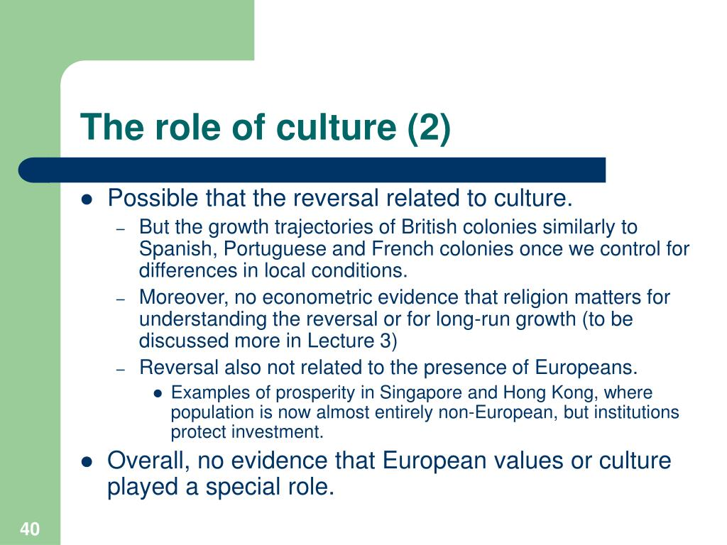The role of culture (2)
