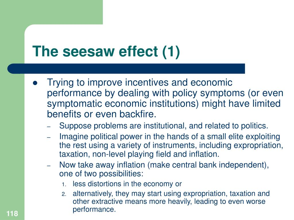 The seesaw effect (1)