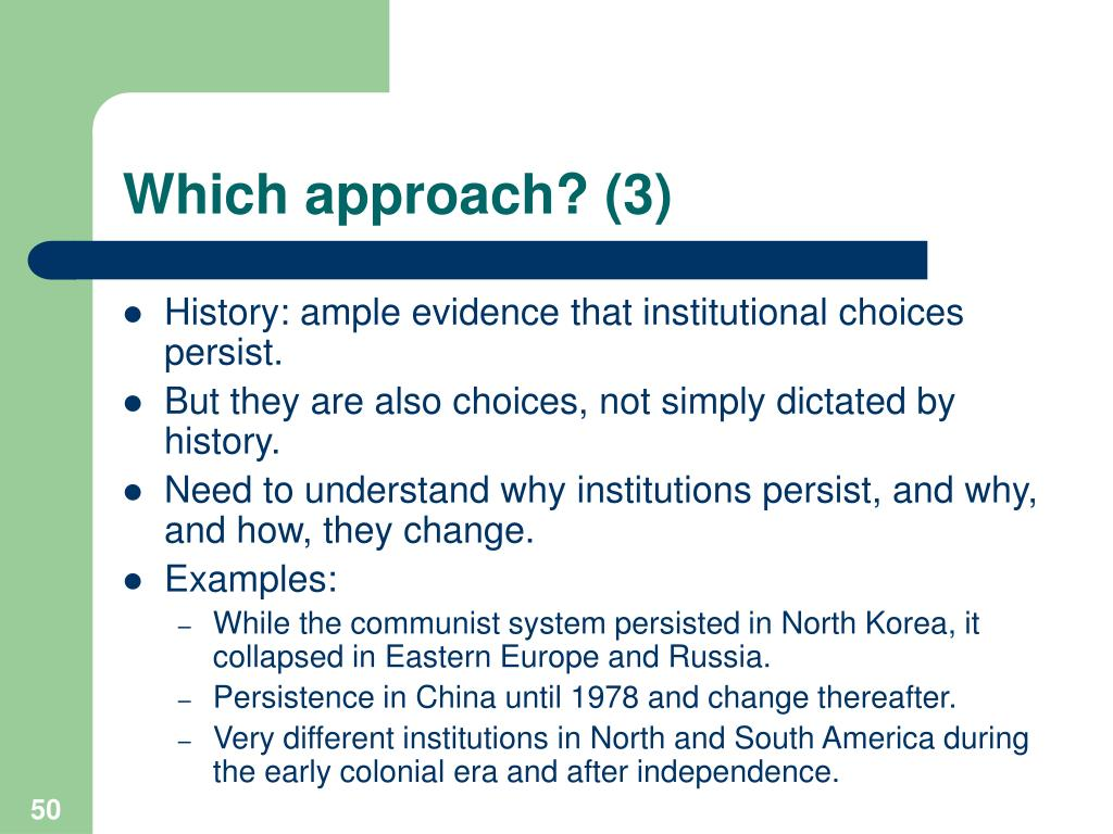 Which approach? (3)
