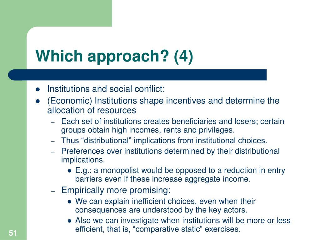 Which approach? (4)