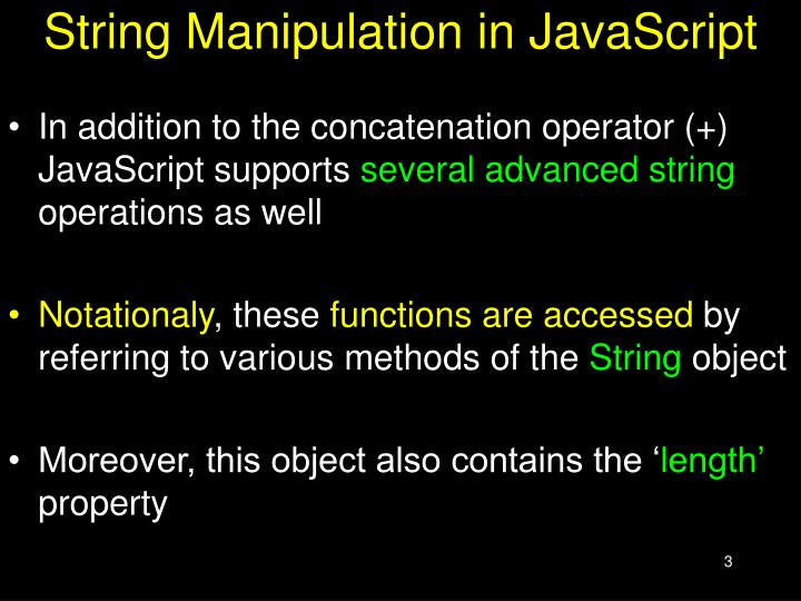 String manipulation in javascript