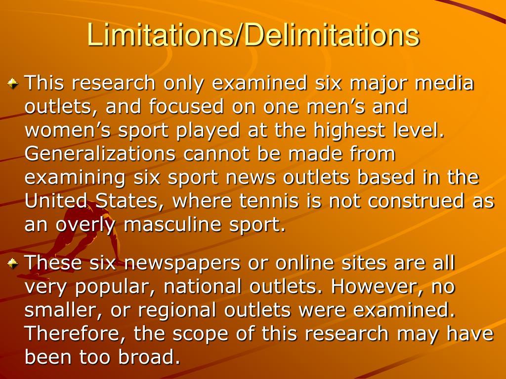 Limitations/Delimitations