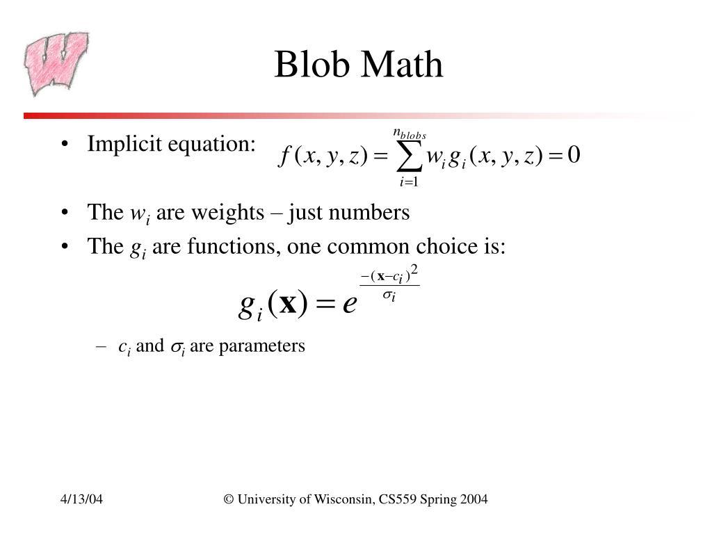 Blob Math