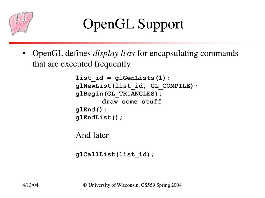 OpenGL Support