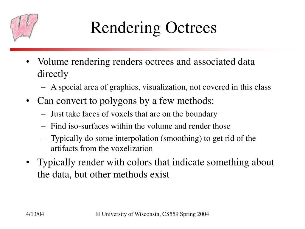 Rendering Octrees
