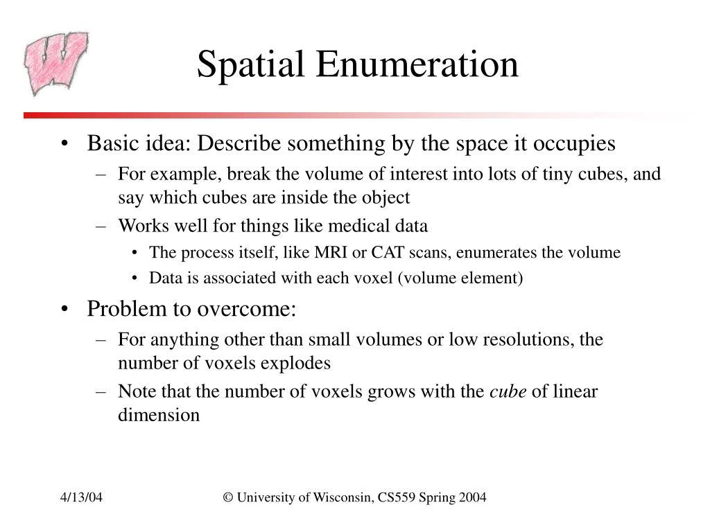 Spatial Enumeration
