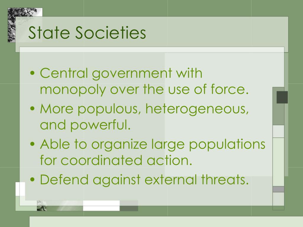 State Societies